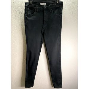 """Madewell Black 10"""" High-Rise Skinny Jeans Size 28"""